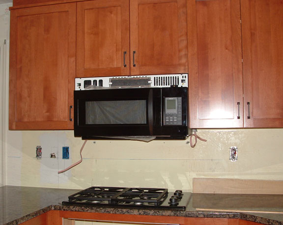 Initially No One Read The Installation Instructions Were That Top Of Mw Was To Be 34 36 Above Cooktop